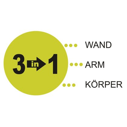 BLACK Wall Arm Body 3 in 1 Schlagpolster Wand Montage 65 cm