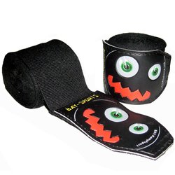 Monster Face Kinder Boxbandagen 2,5 m schwarz