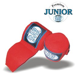 Junior Big Klett Boxbandagen 2,5 m rot
