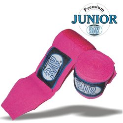Junior Big Klett Boxbandagen 2,5 m pink/rosa
